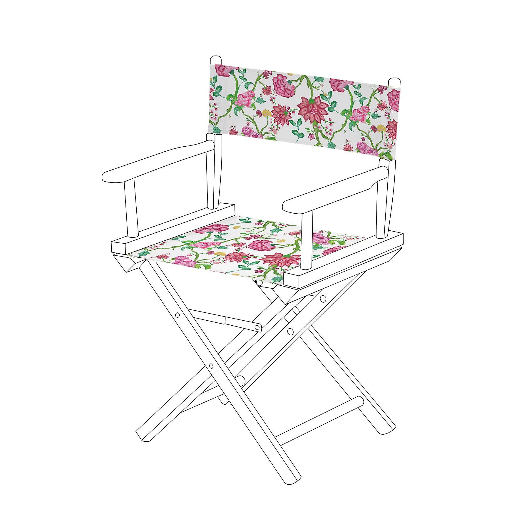 Brilliant Gardenista Chintz White Design Replacement Directors Chair Canvas Cover Pdpeps Interior Chair Design Pdpepsorg