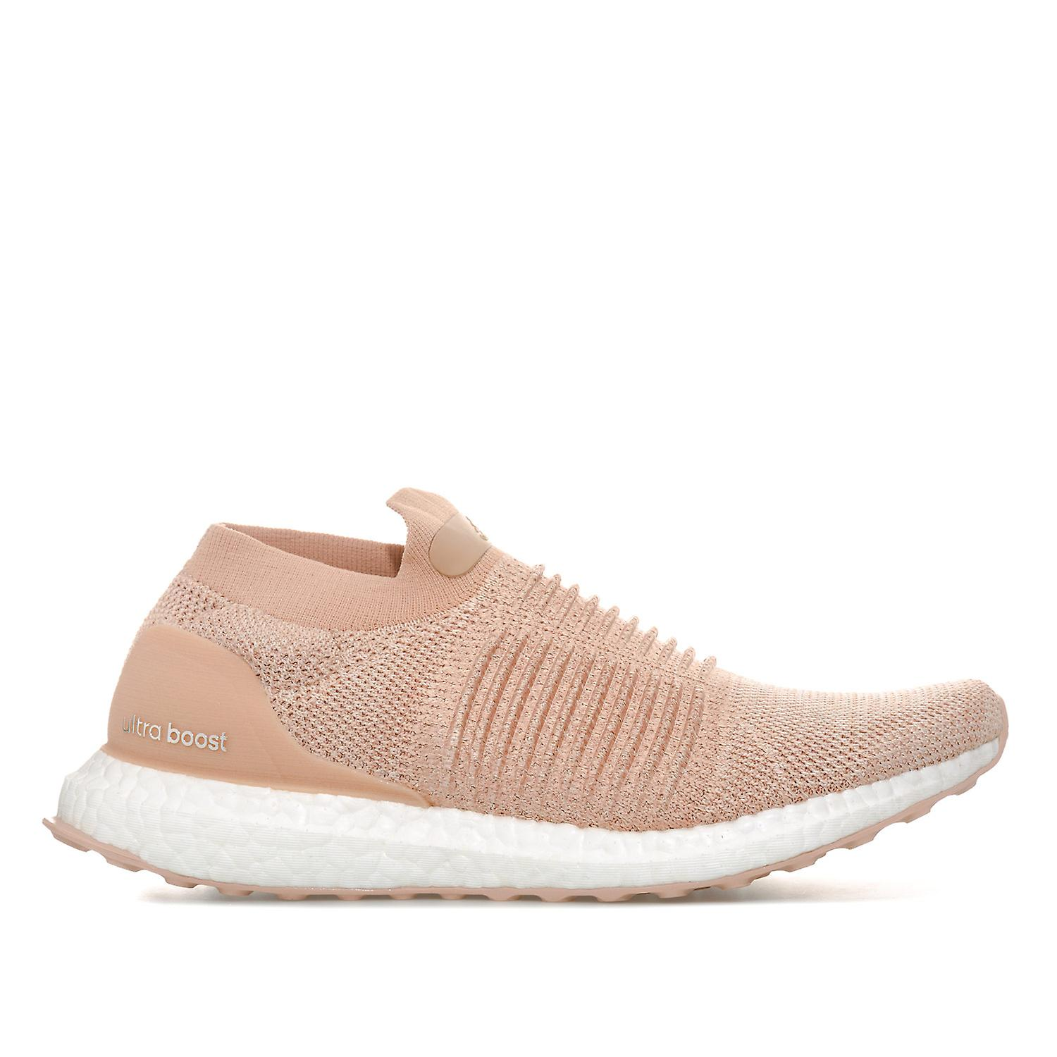 huge selection of b11e1 1f721 Womens adidas Ultraboost Laceless Running Shoes In Ash Pearl