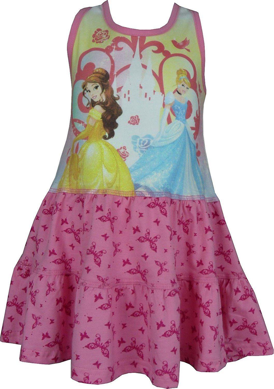 4e15f8cd0cb4 Jenter Disney Princess sommer ermeløs kjole