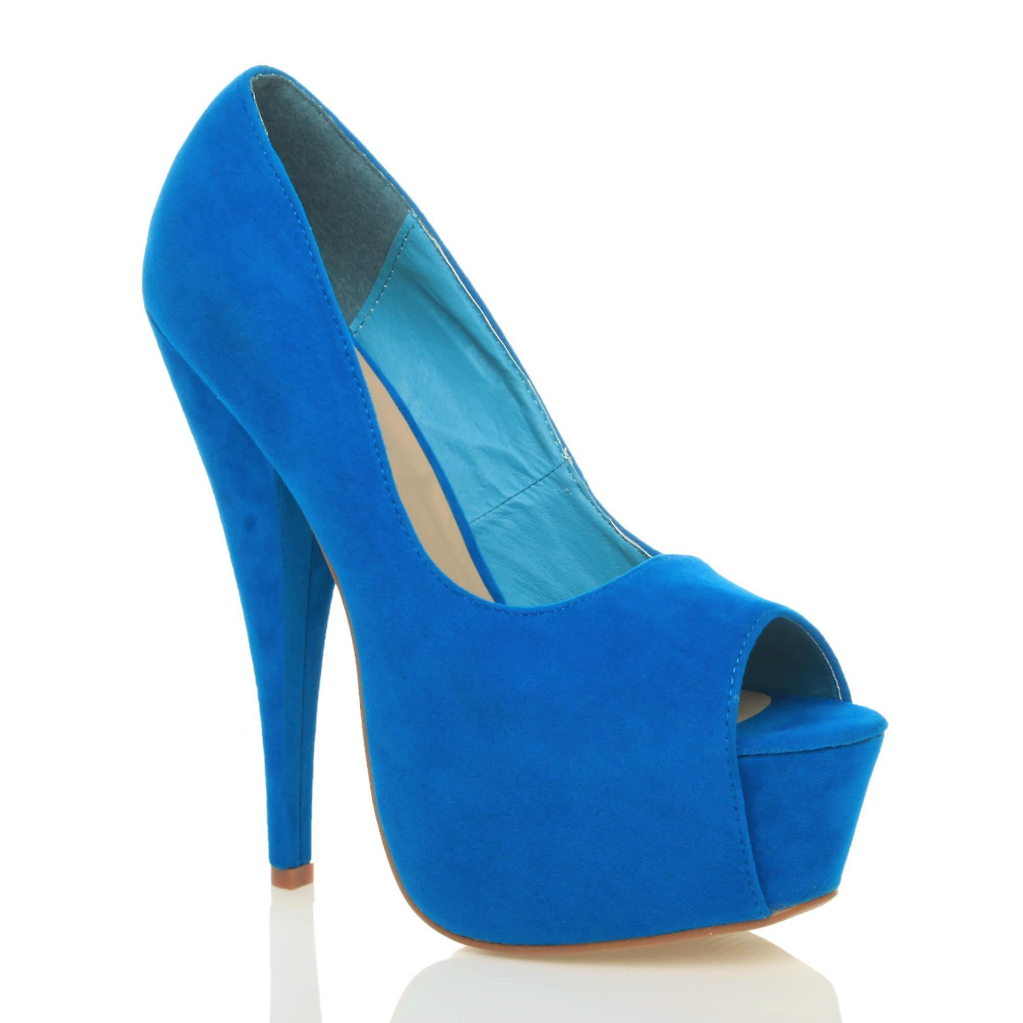 8c07e9b993 Ajvani womens high heel classic party evening peep toe court shoes sandals