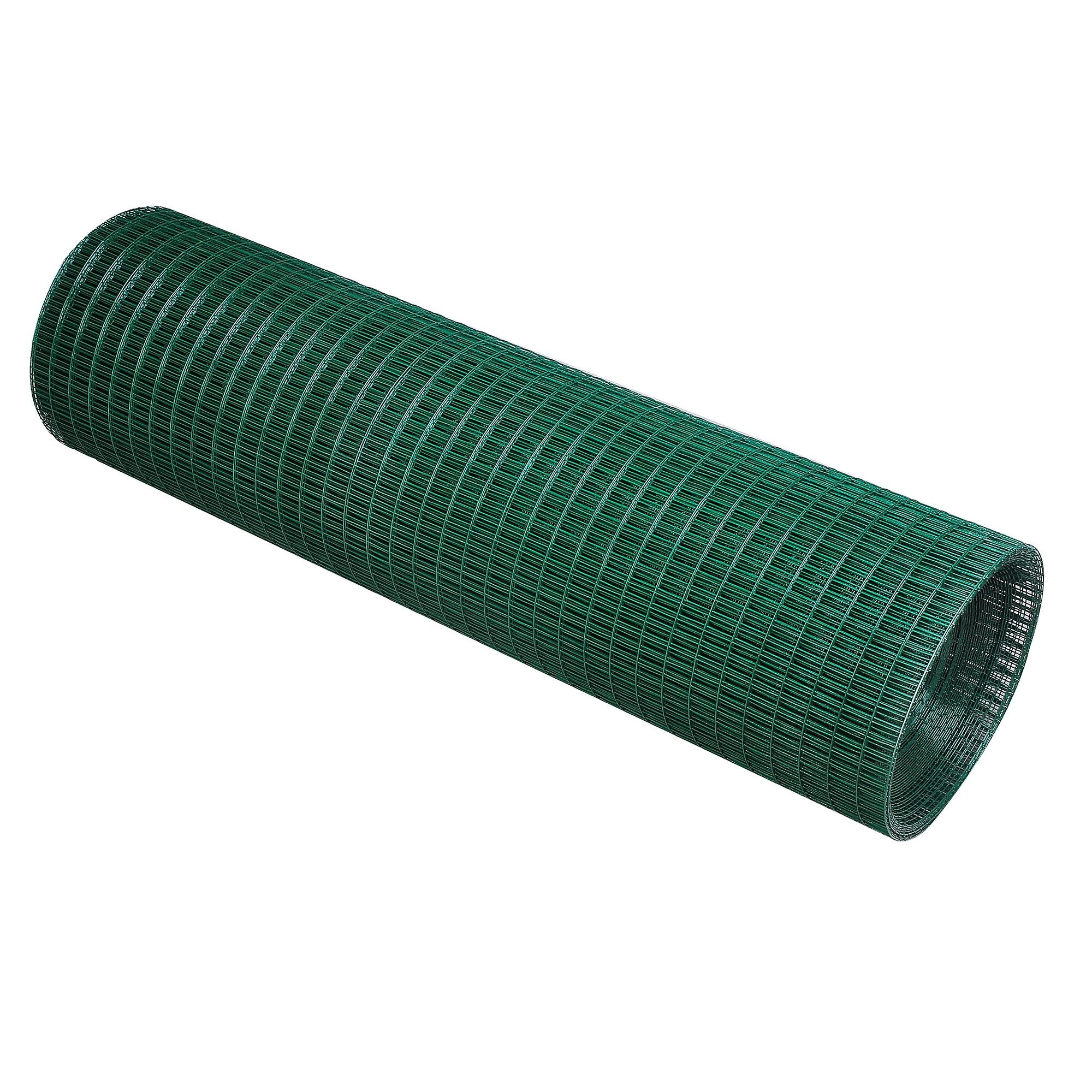 Pawhut PVC Coated Welded Wire Mesh Fencing Chicken Poultry Aviary ...