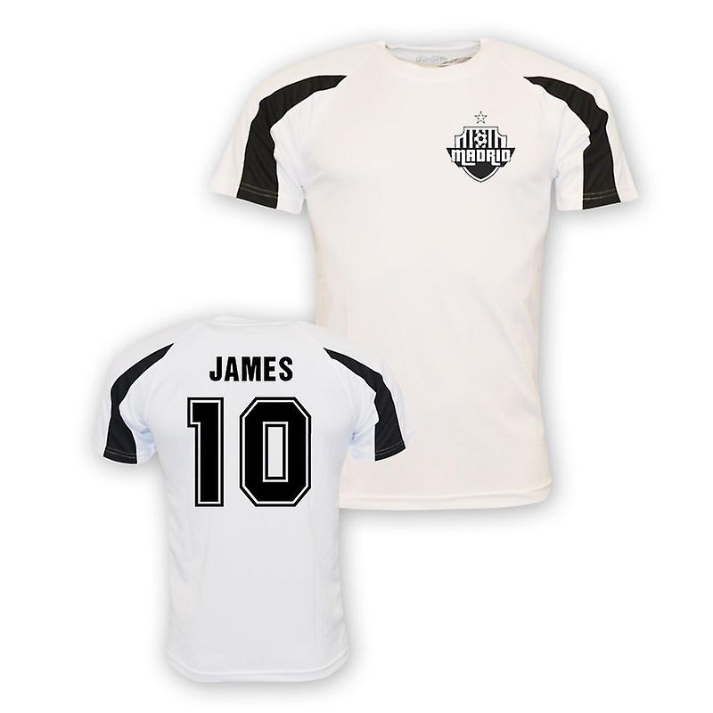 72ca40e43 James Rodriguez Real Madrid Sports Training Jersey (white) - Kids ...