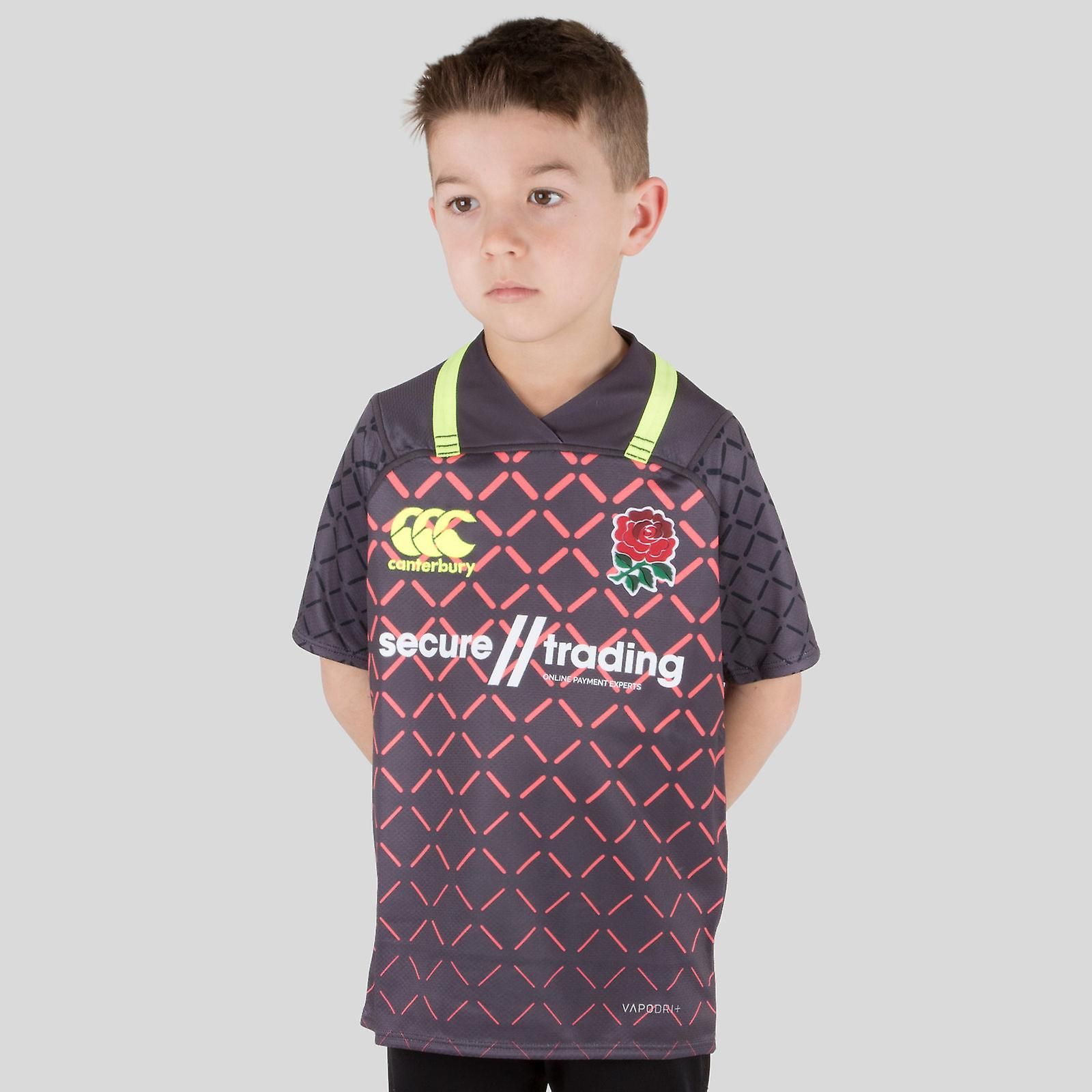 4f97363d Canterbury England 7s 2018/19 Kids Alternate Pro S/S Rugby Shirt ...