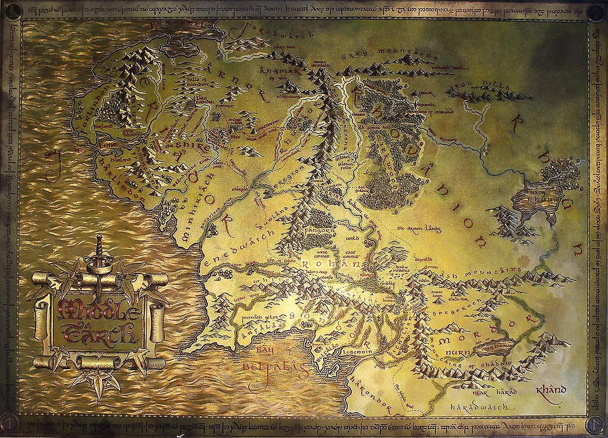Hobbit Kartta Herra K Renkaat Taru Sormusten Herrasta Middle