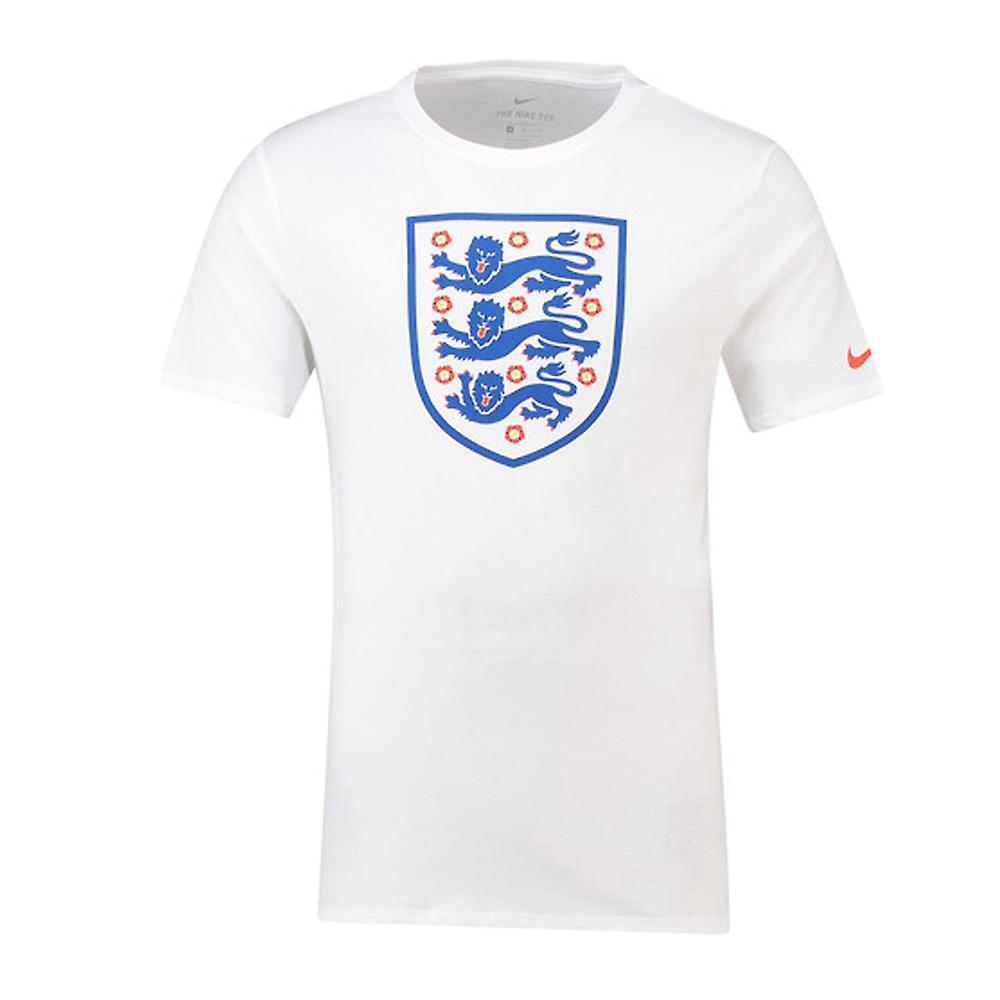 2018-2019 England Nike Evergreen Crest Tee (White)  1aa52c6cd83