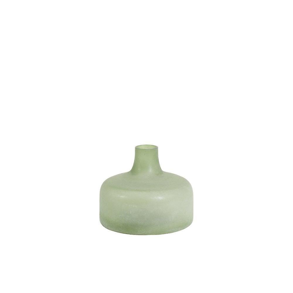 Lys & Levende Vase Deco 17.5x15cm Dundar Glass Mint Grønn