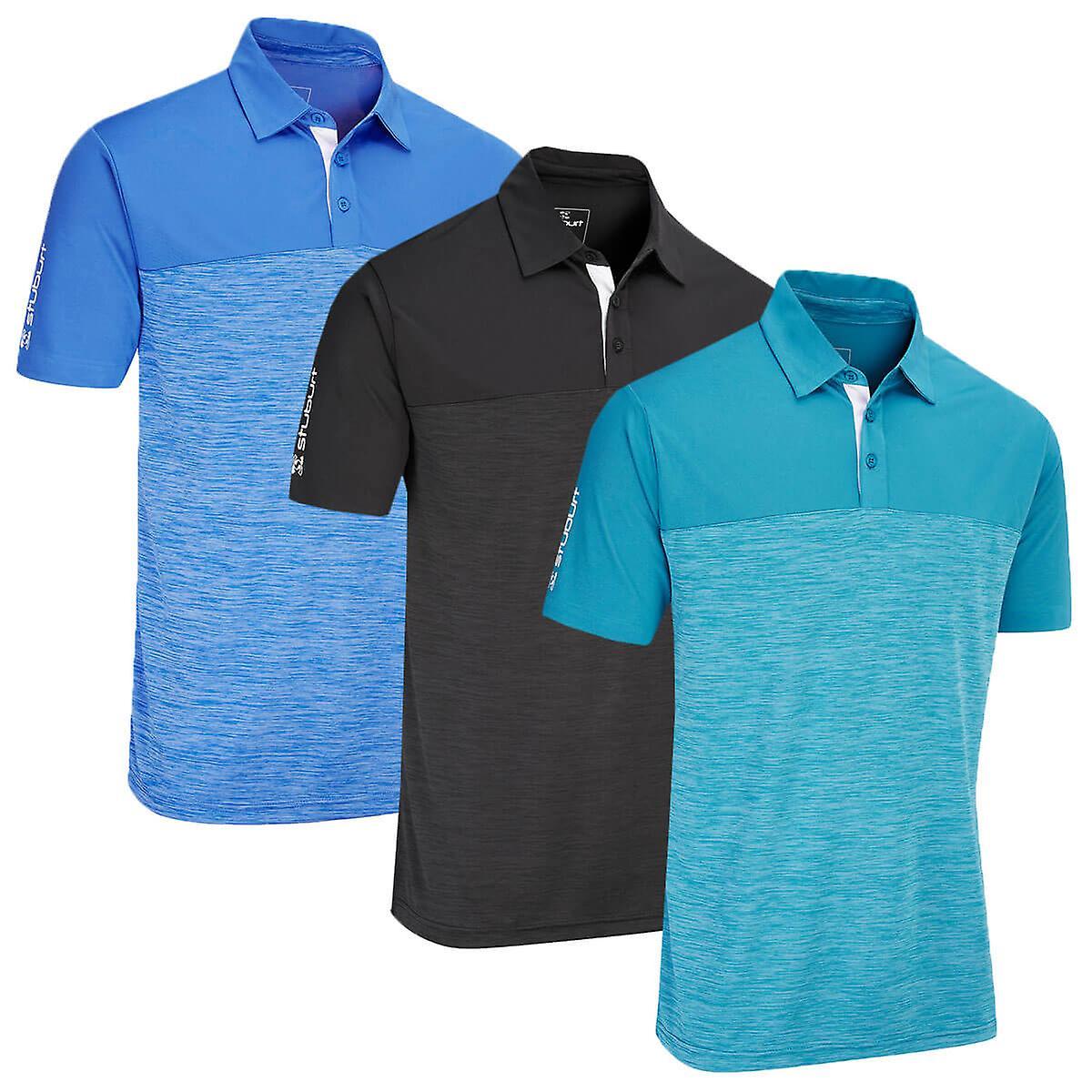 Stuburt Mens Evolve Obley Moisture Wicking Golf Polo Shirt