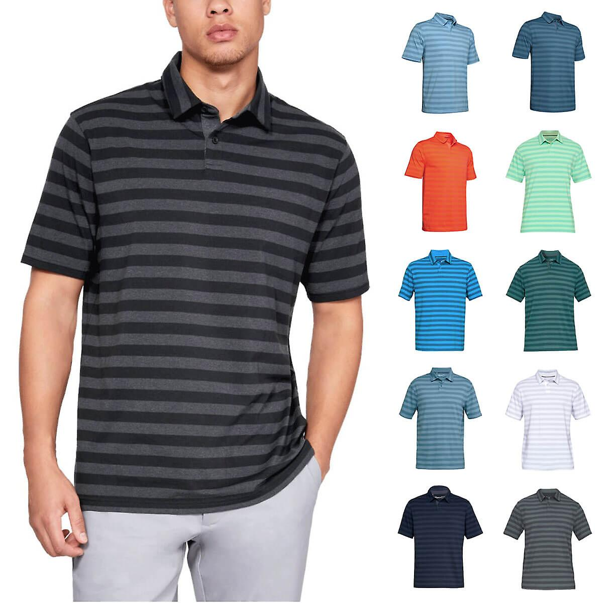 Under Armour CC Scramble Stripe Camisa Polo Hombre