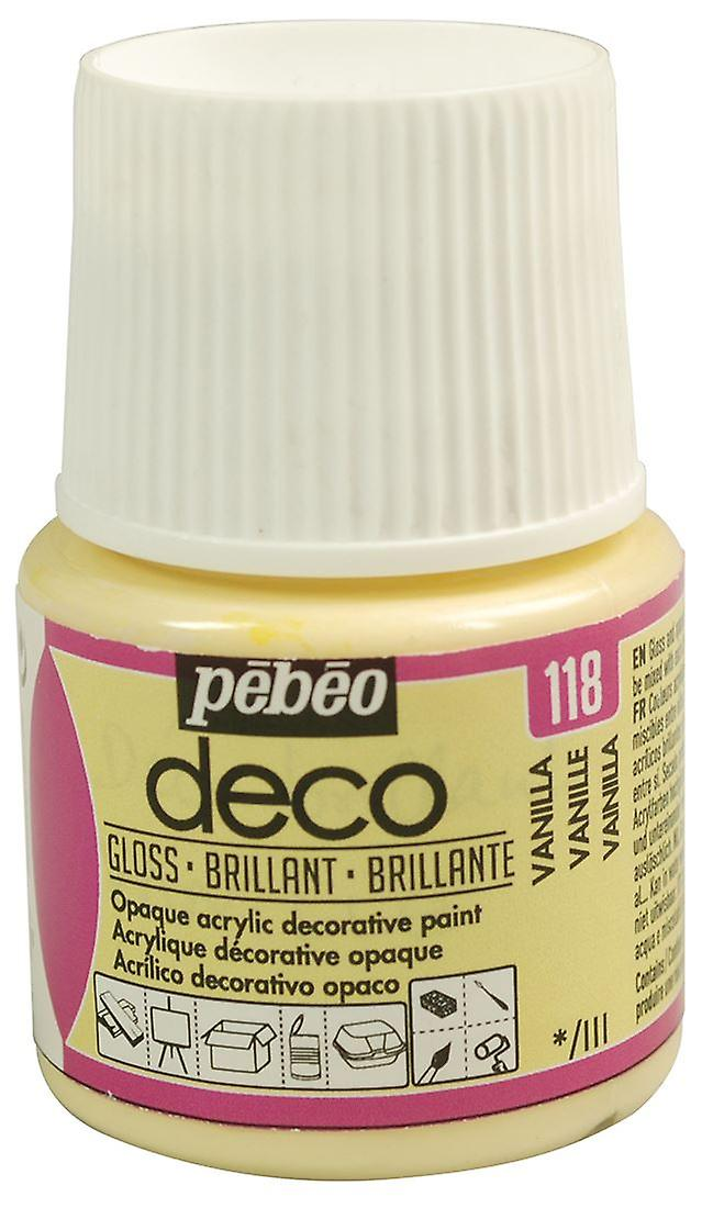 Pebeo Deco Art Craft And Furniture Paint 45ml Gloss Colours Fruugo