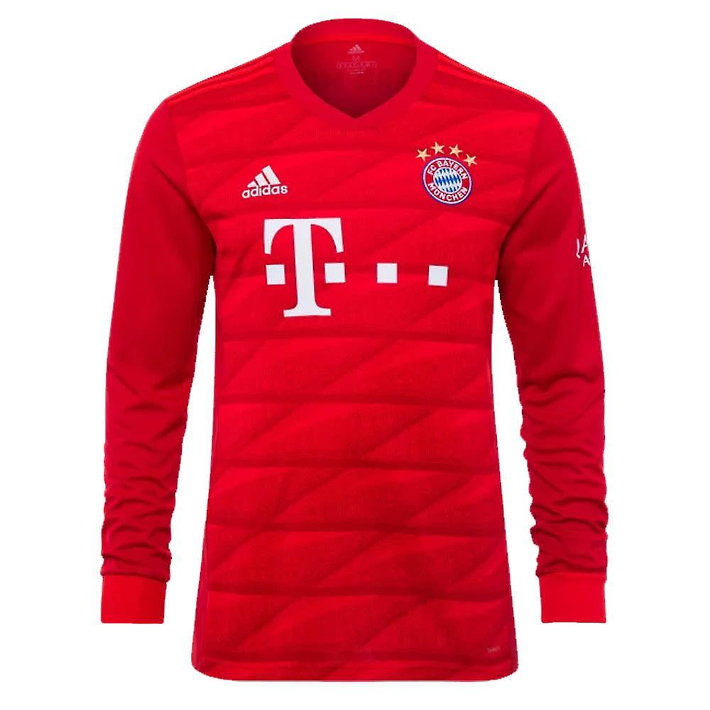 new style be4a2 19e18 2019-2020 Bayern Munich Adidas Home Long Sleeve Shirt (Kids)