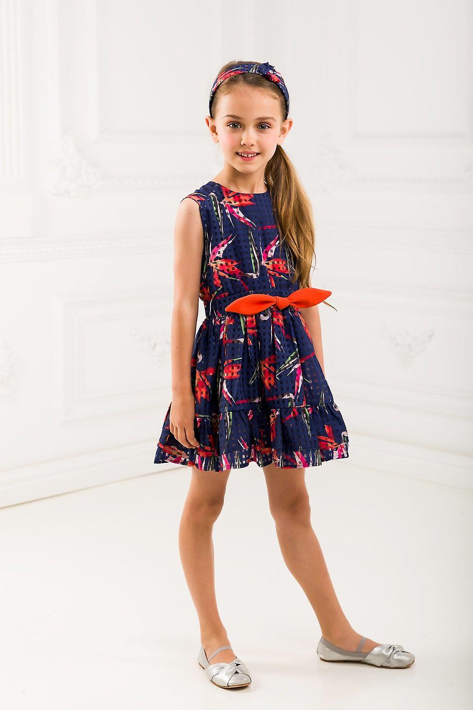 dc53662070f4 Blommig flicka blå klänning | Fruugo