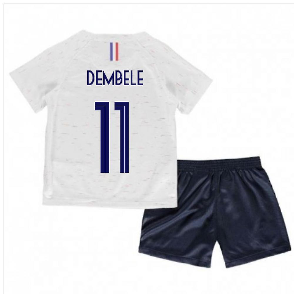 20d5615f369 2018-2019 France Away Nike Little Boys Mini Kit (Dembele 11)