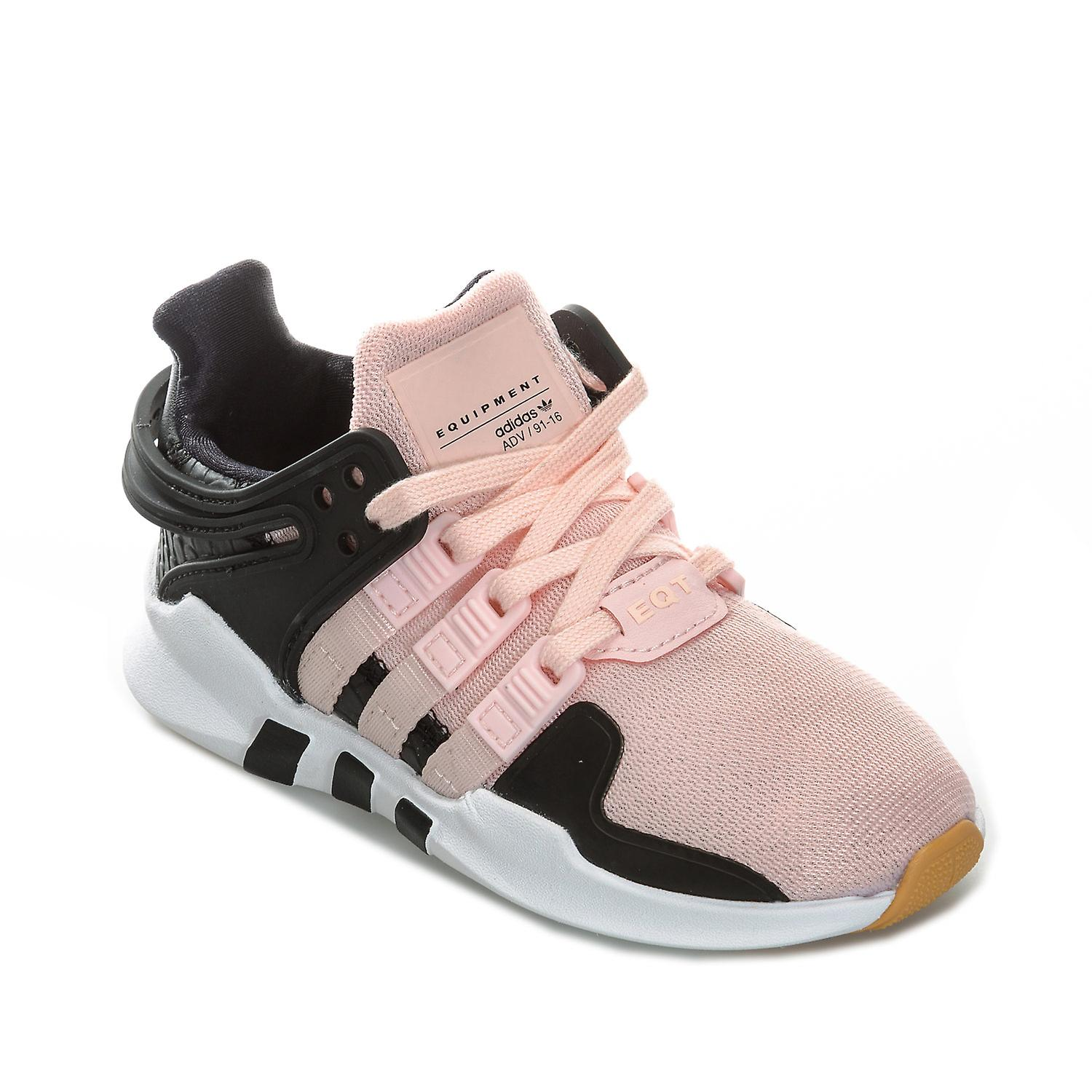 47d304d1e87a Children Girls adidas Originals Eqt Support Adv Trainers In Pink- Lace