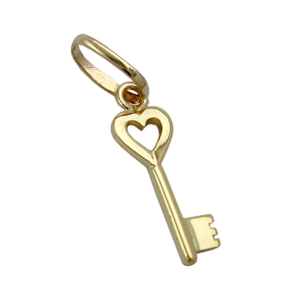 Schlsselanhnger Gold 375 Anhnger Herz Schlssel 9 Kt GOLD