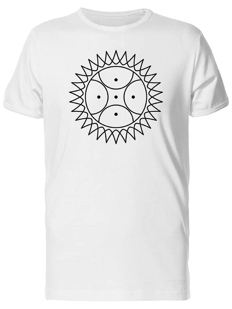size 40 95be9 c09fe Sonne mit Punkten in Minimal Art T-Shirt Herren-Bild von Shutterstock