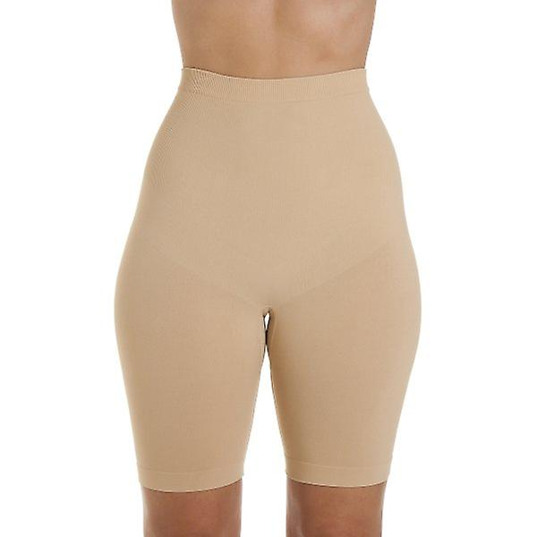 in stock 100% quality details for Camille Womens Seamfree Shapewear Comfort Control Thigh Slimmer Brief In  Beige