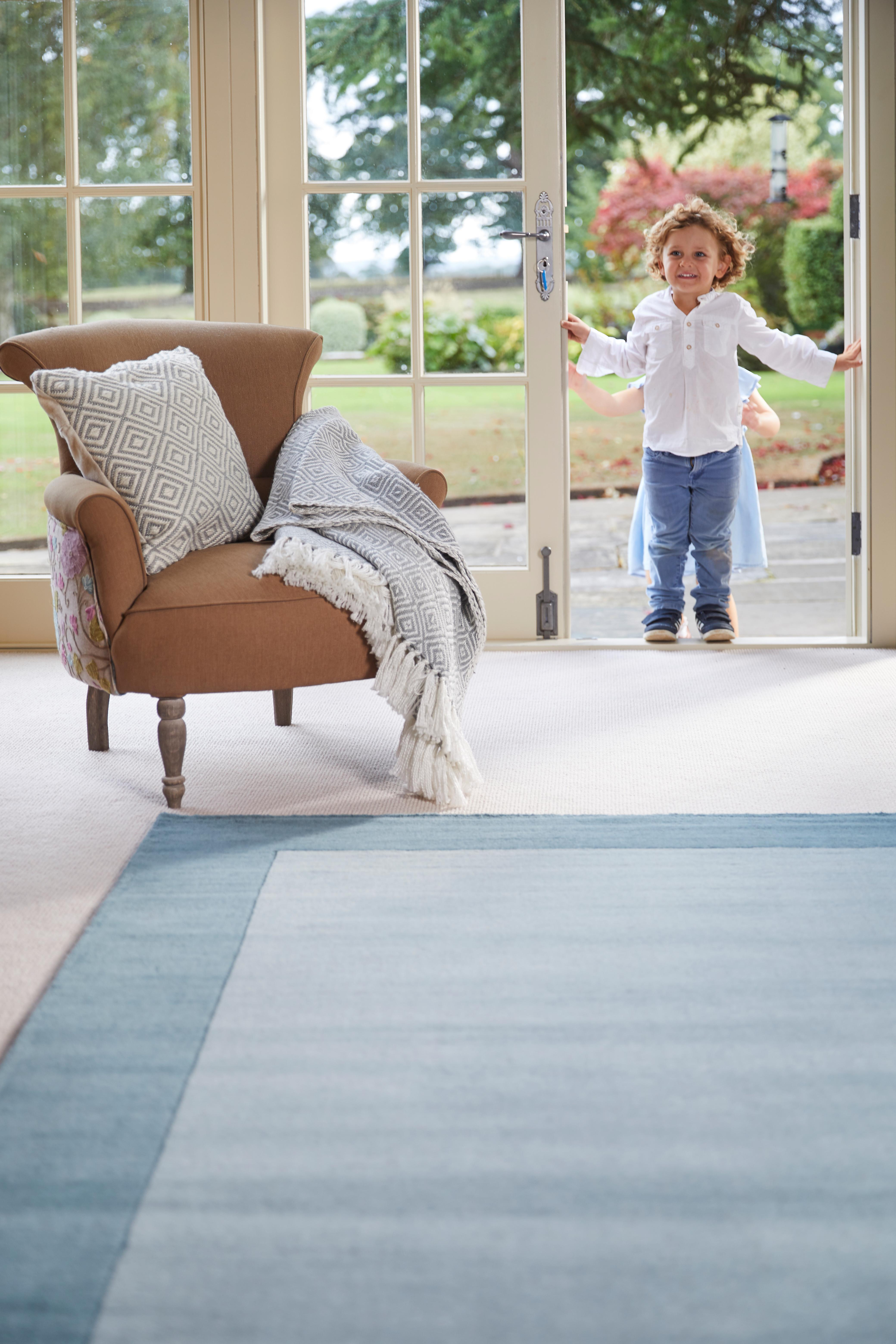 Borders Duck Egg Runner Rugs Plain Nearly Plain Rugs