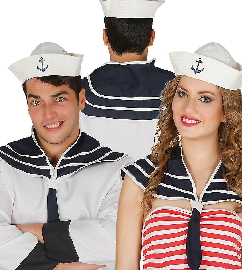 Womens Sailor Instant Kit Scarf Hat Costume Navy White Fancy Dress Accessories