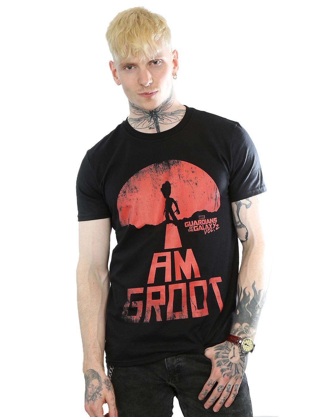 Herren Wächter zu bestaunen der Galaxie bin ich Groot rotes T-Shirt ... 5c891c479c