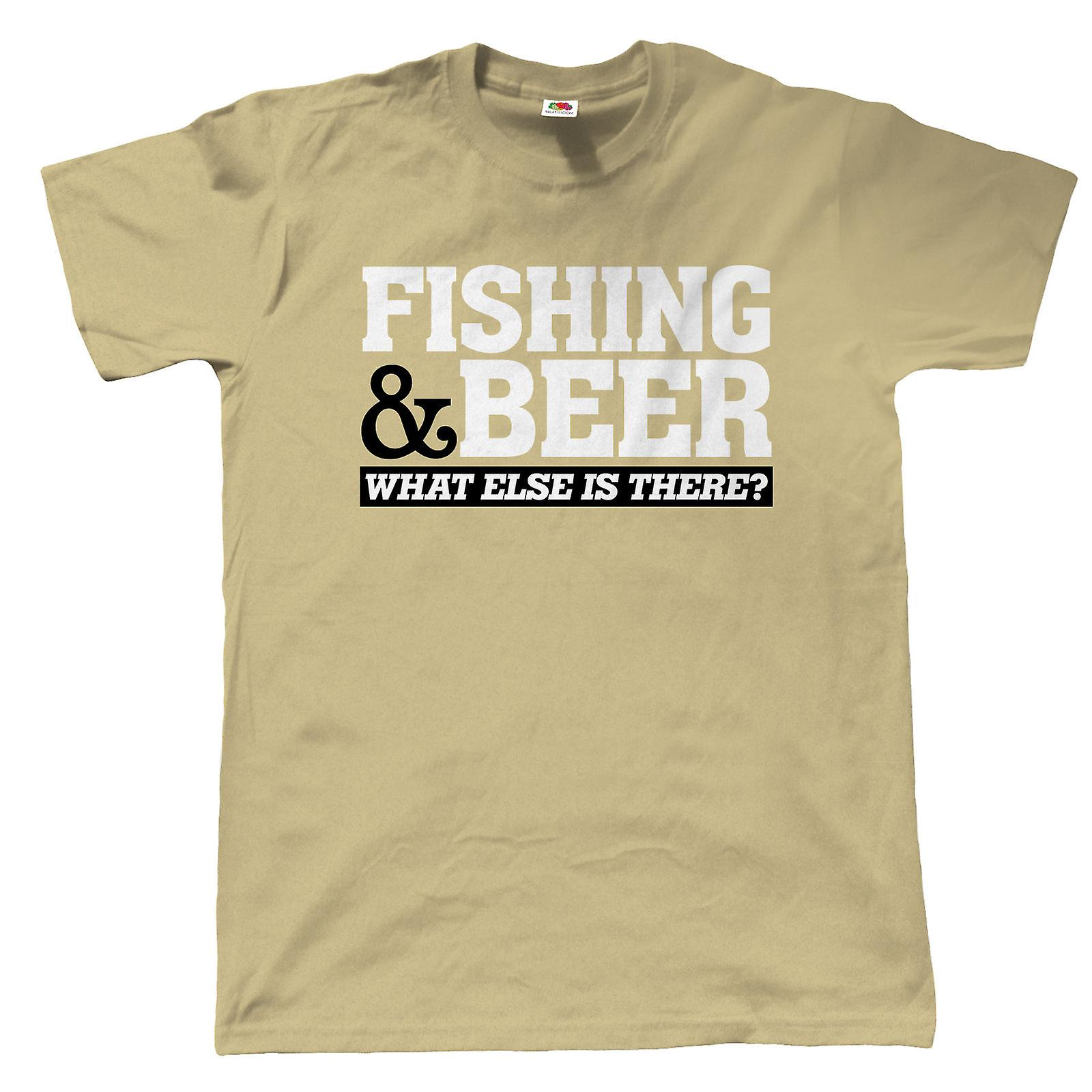 9845c6d2 Fishing & Beer, Mens Funny Fishing T Shirt | Coarse Carp Sea Match Fly  Specimen