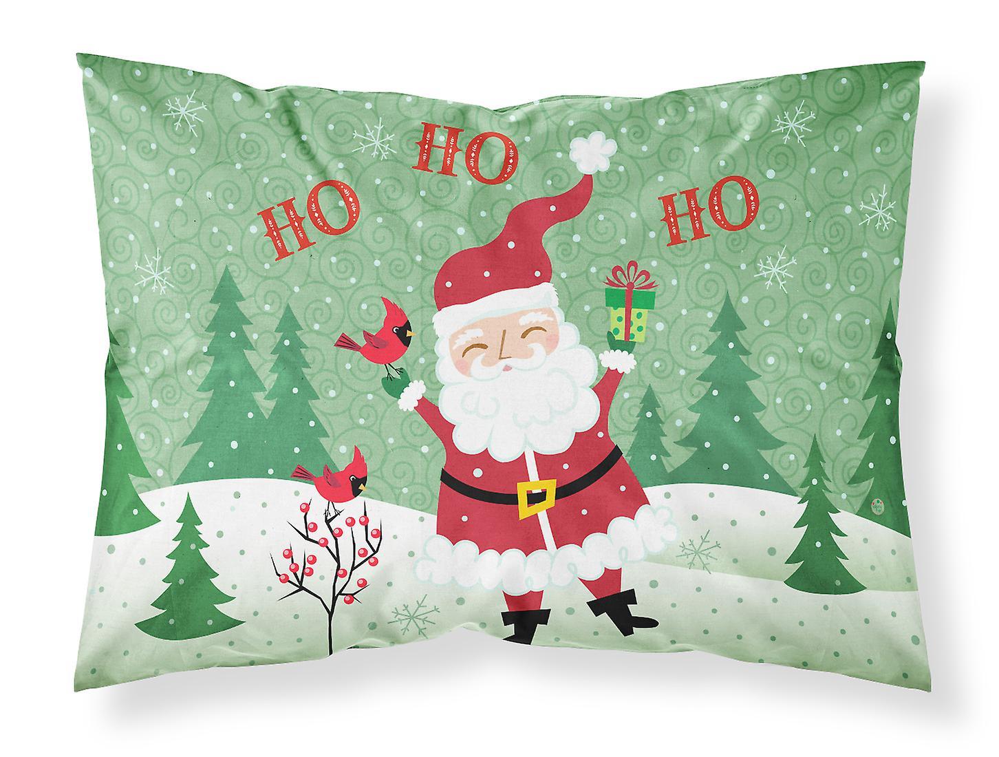 Frohe Weihnachten Santa Claus Ho Ho Ho Fabric Standard Kissenbezug ...