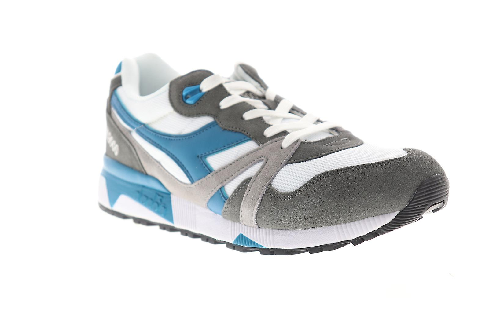 2dce2f33 Diadora N9000 III Mens Gray Suede & Mesh Athletic Lace Up Running Shoes