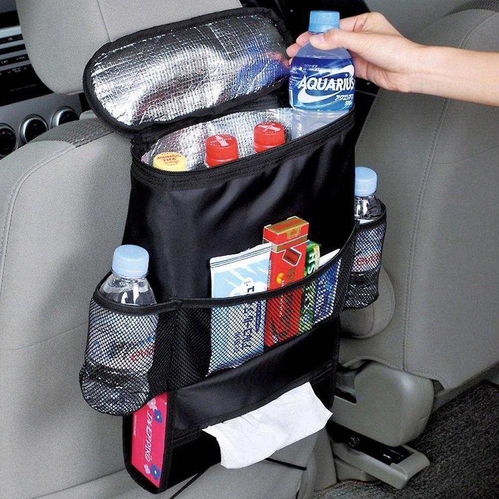 TRIXES bil bagsædet arrangør med isolerede køletaske rum