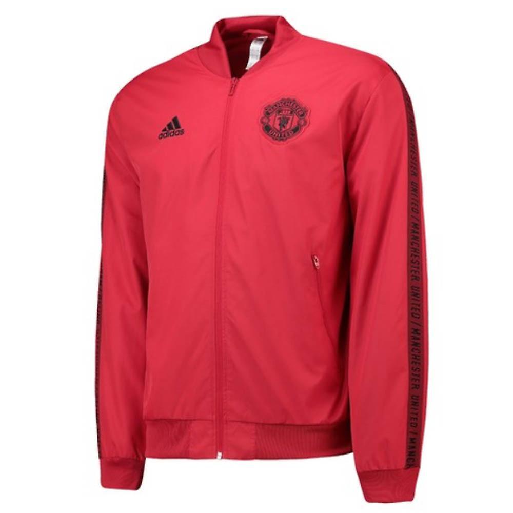 2019 2020 mann Utd Adidas Anthem Jacket (rød) barn