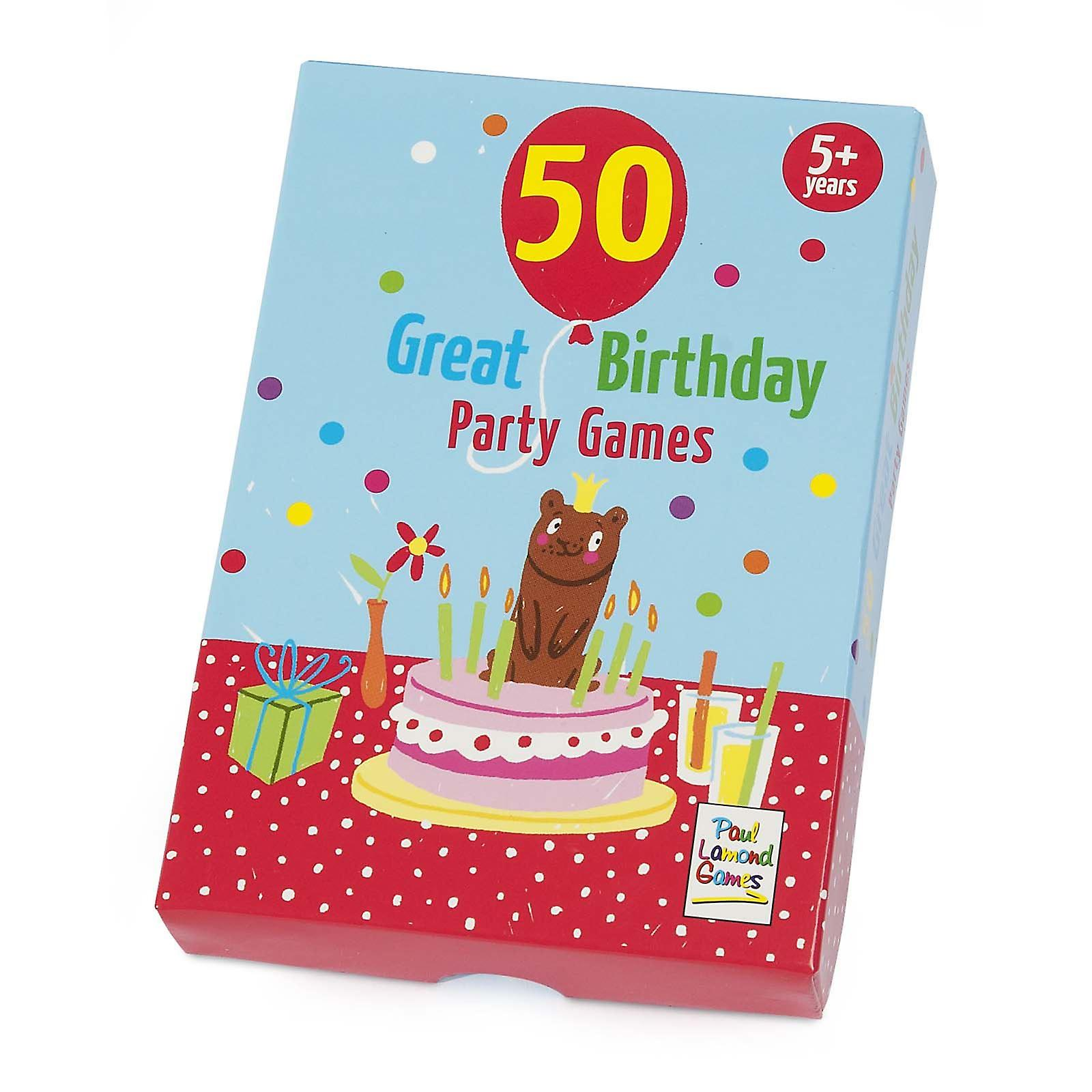 50 Great Birthday Party Games Ideas Cards Age 5
