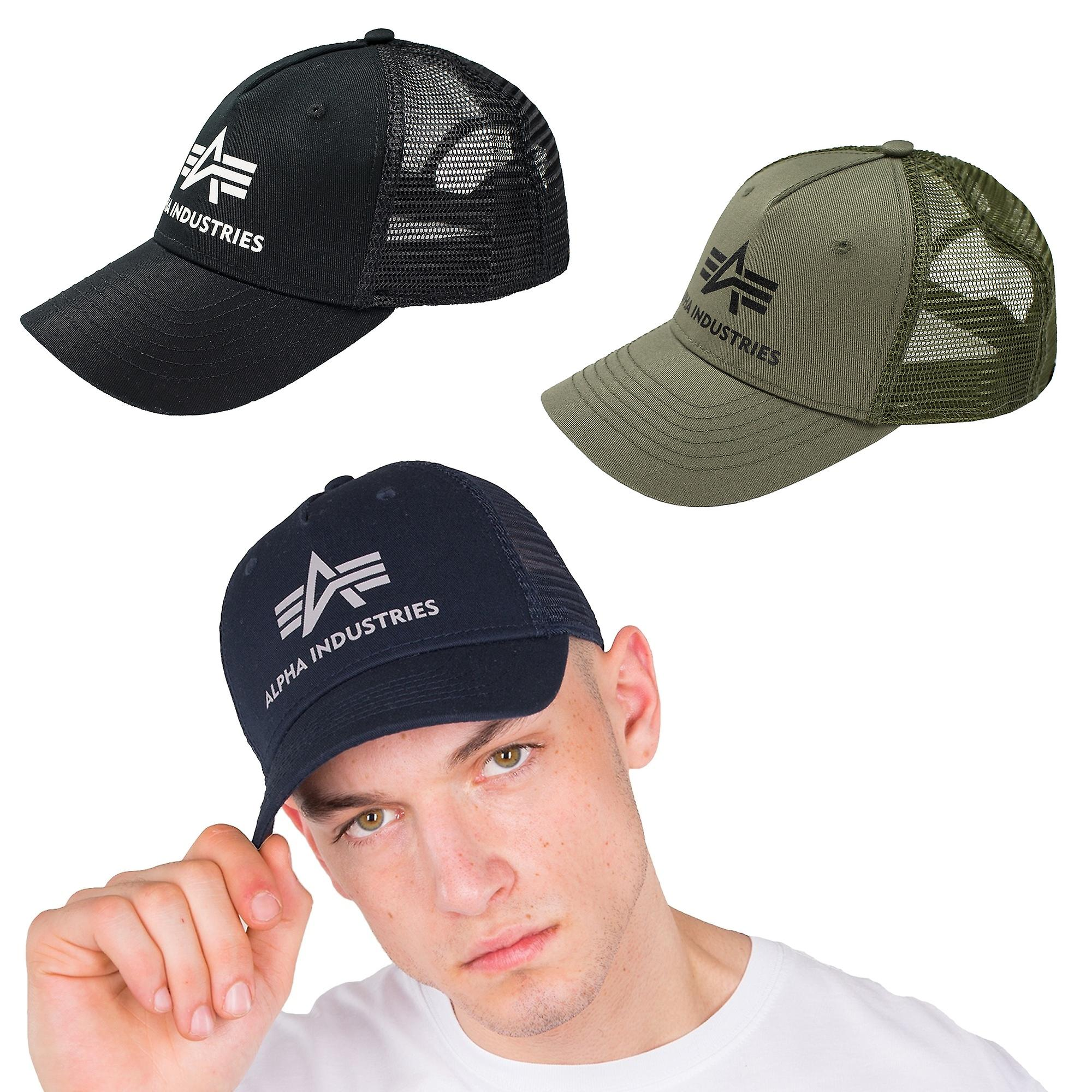 online retailer ac5ba ba0de Alpha industries unisex Cap basic Trucker Cap