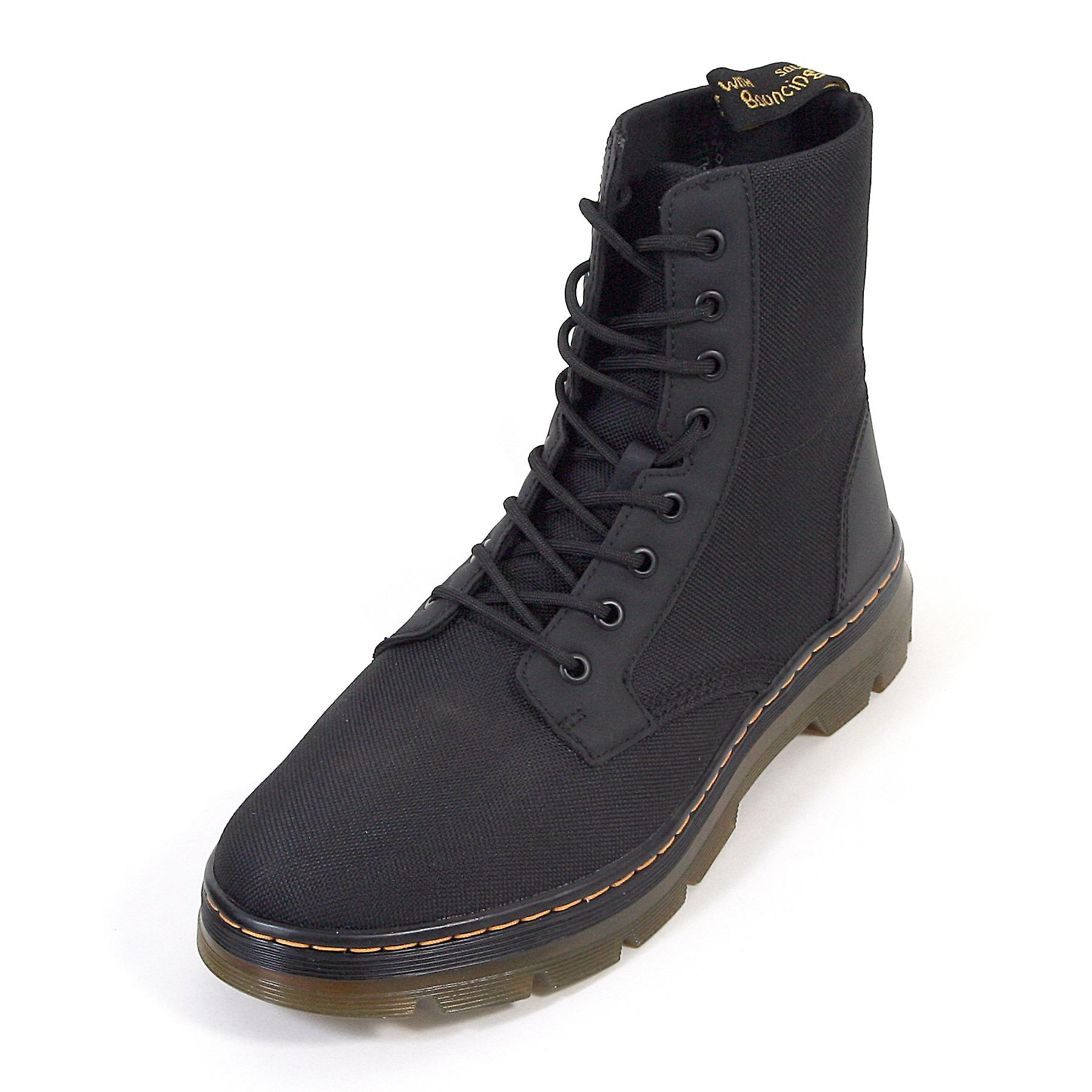 798e7084fff Dr Martens Men's Tract Combs Fold-Down Nylon Lace-Up Boot Black