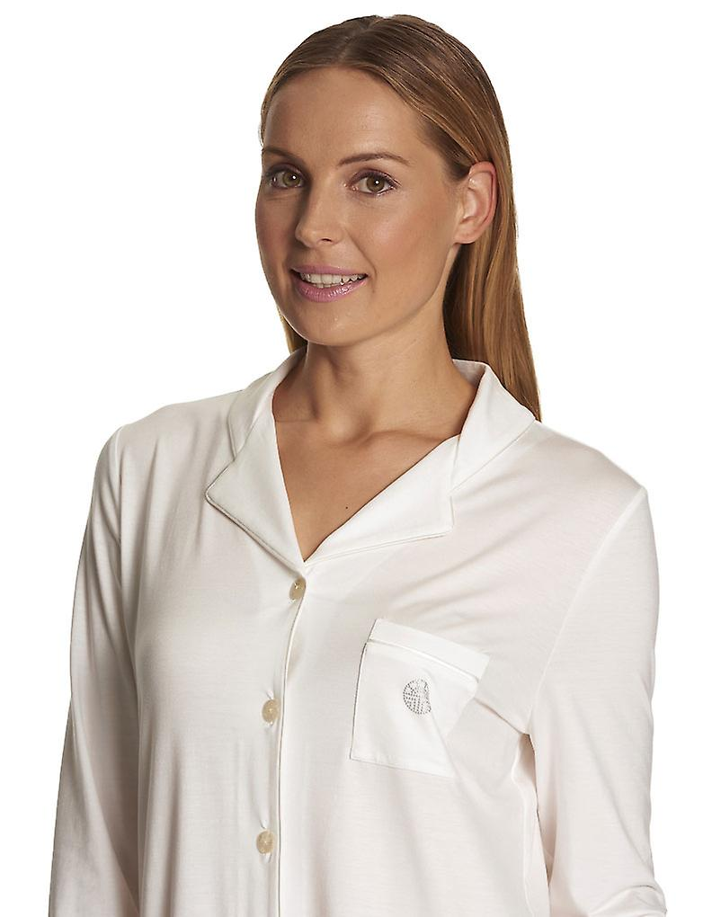 a4eee37f14 Feraud 3883032-10044 Women s Champagne White Pyjama Set