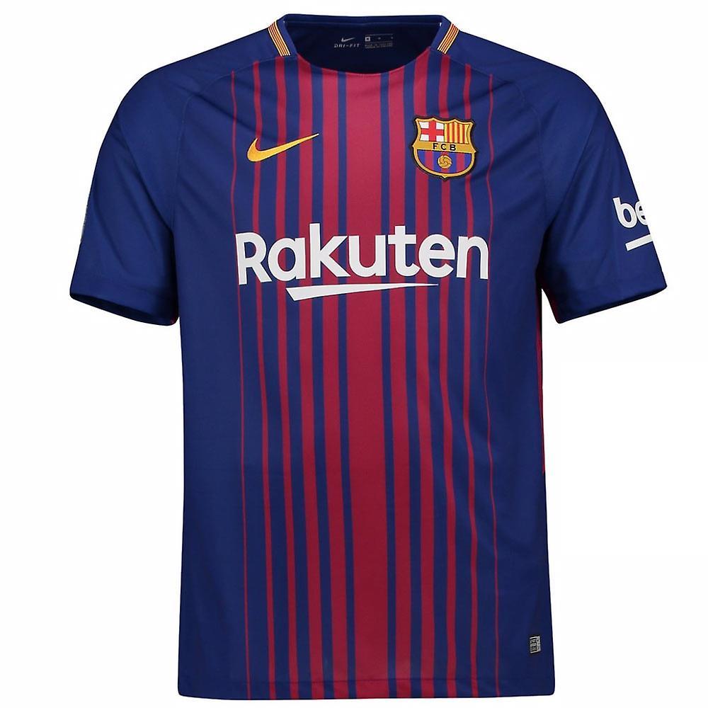 99aa8a49e91 2017-2018 Barcelona Home Nike Football Shirt | Fruugo