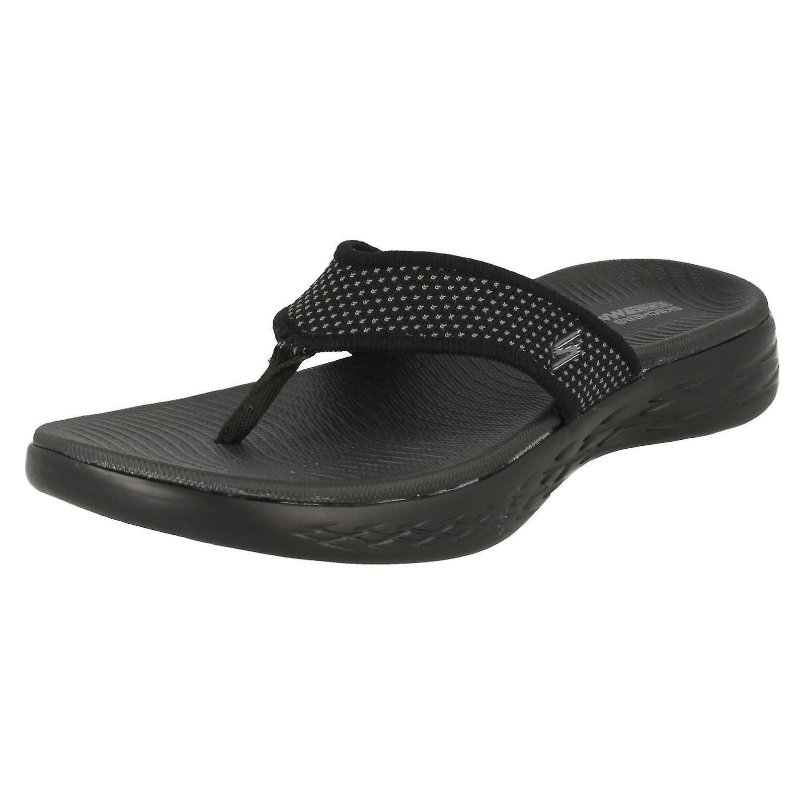 official photos d1632 2c572 Damen Skechers Casual Slip-on Flip Flops auf gehen 600 15300 - schwarze  Textil - UK Größe 6 - EU Größe 39 - US Größe 9