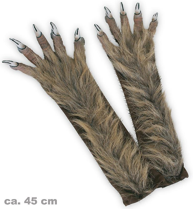 Varulv handskar långa klor hårig Halloween Monster  8026d824258f5