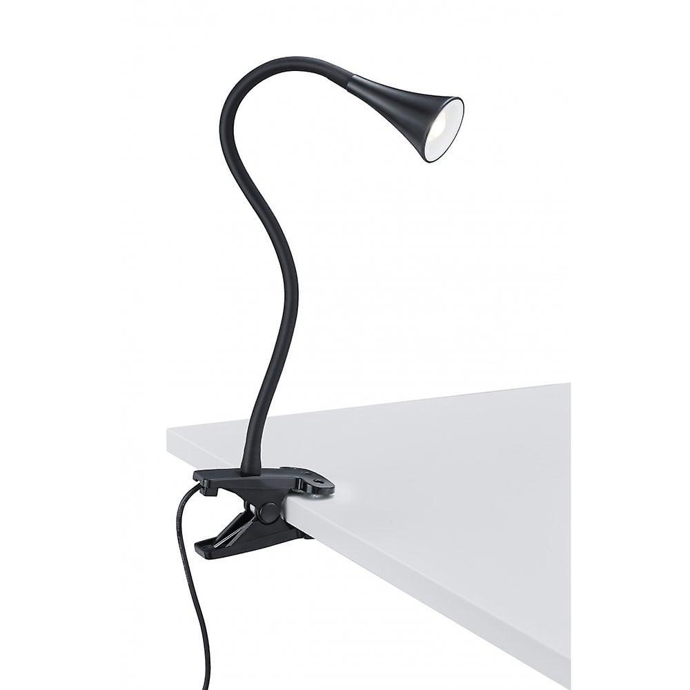 Trio Lighting Viper Modern Black Plastic Clamping Lamp