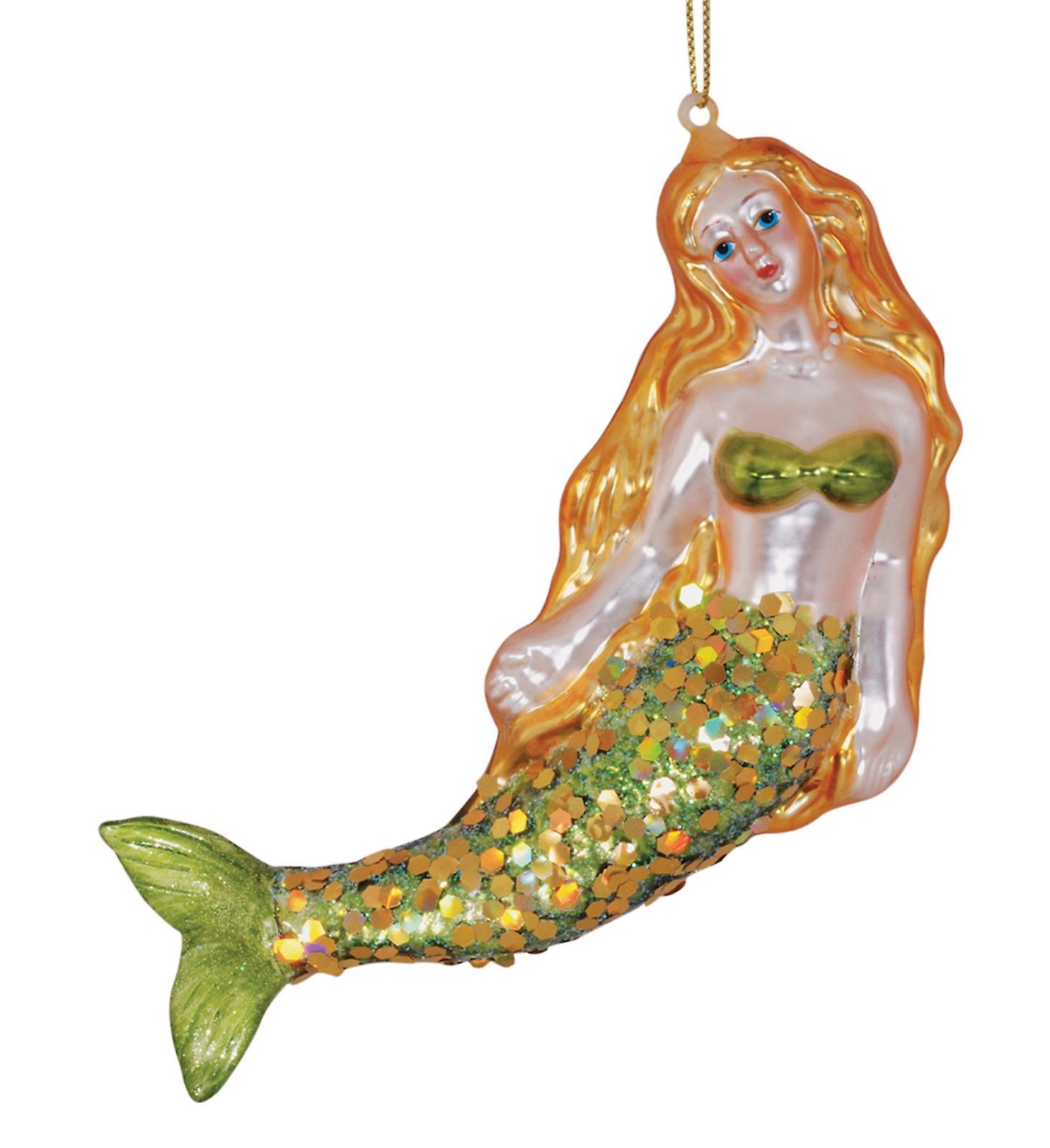 Art Glass Mermaid Ornament
