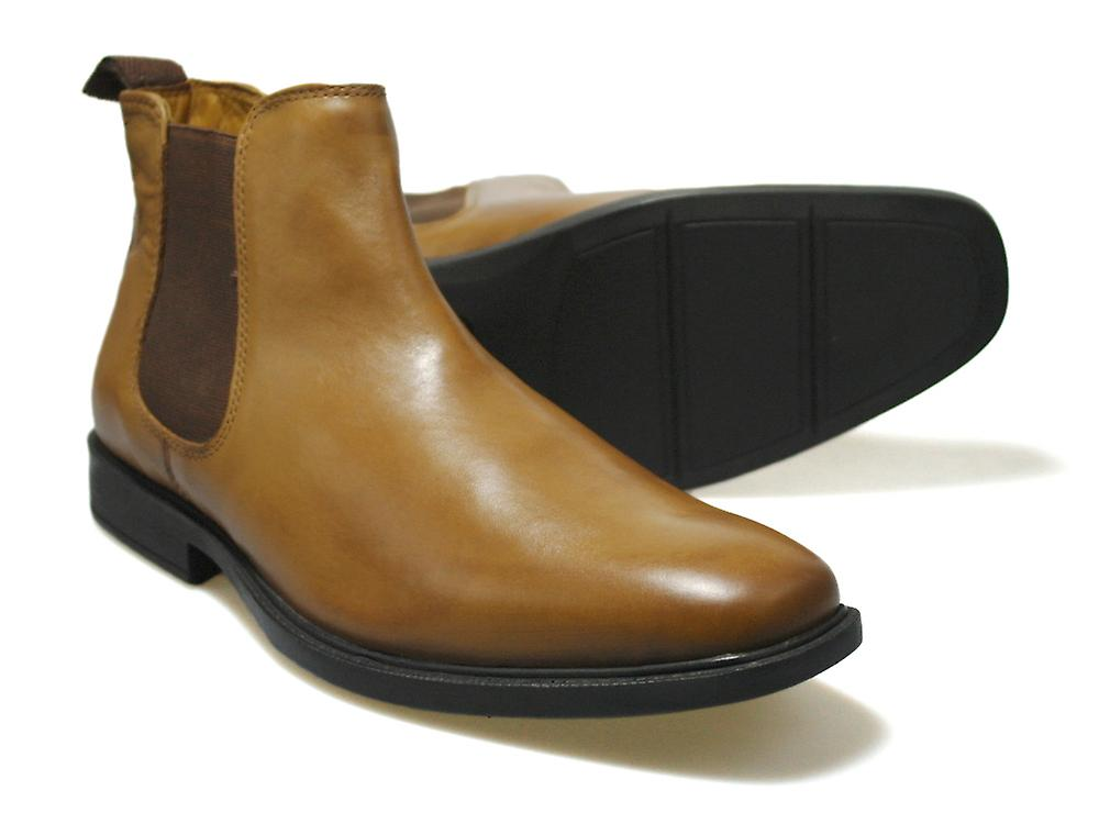 bc91dd707cd Red Tape RTX Denwick Tan Leather Men's Chelsea Boots