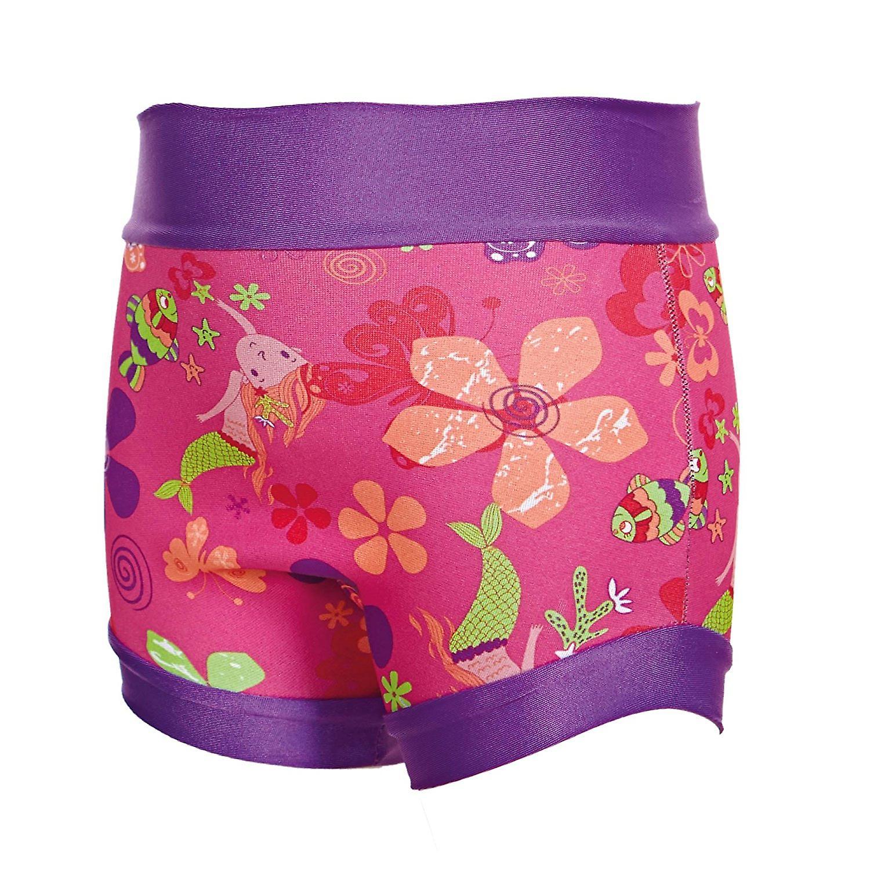 Multi-Coloured Zoggs Unisex Child Mermaid Flower Swimsure Nappy
