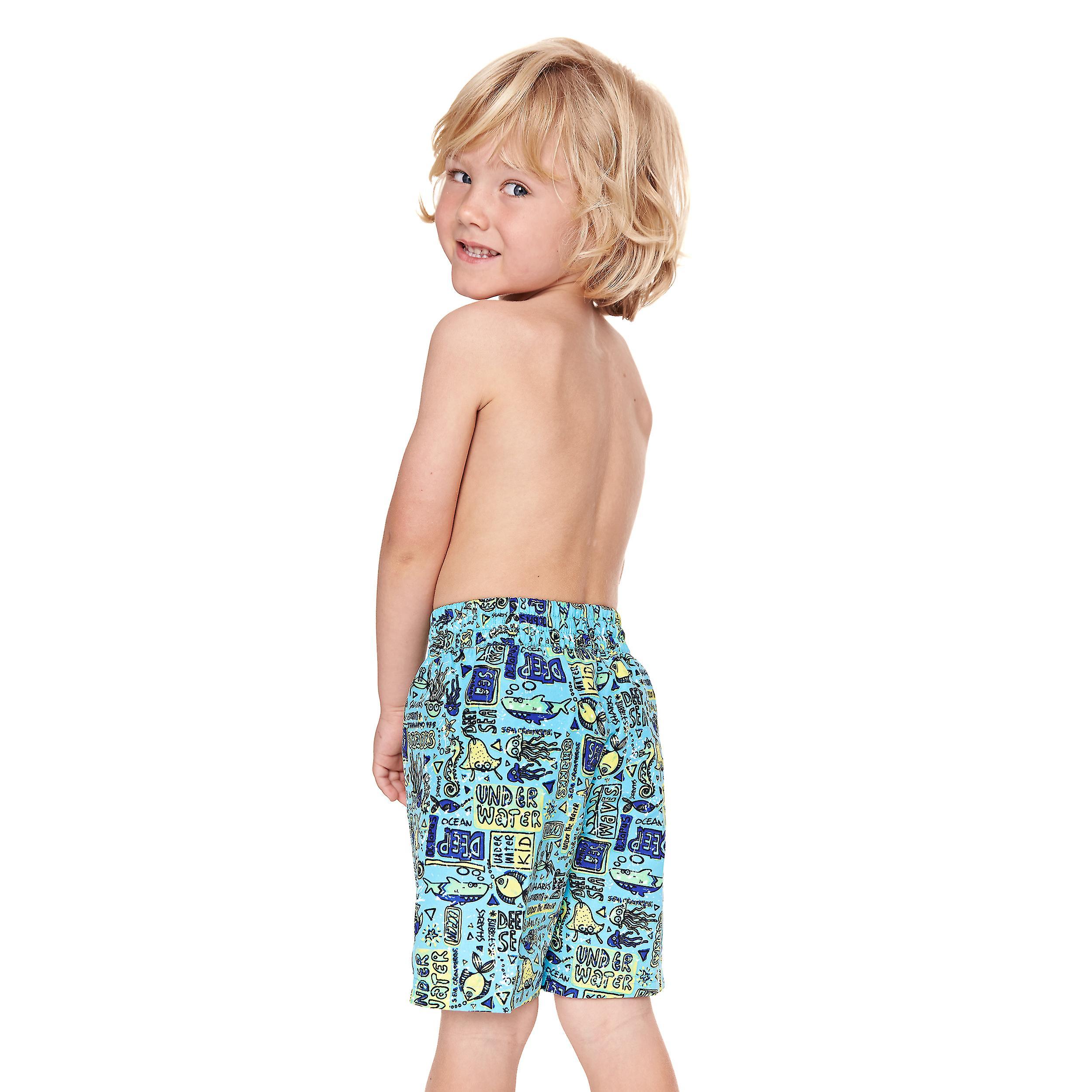 bd83faddb47e5 Zoggs Junior Boy's Swimming Shorts in Jade / Multi Colour - Chlorine  Resistant for 6-