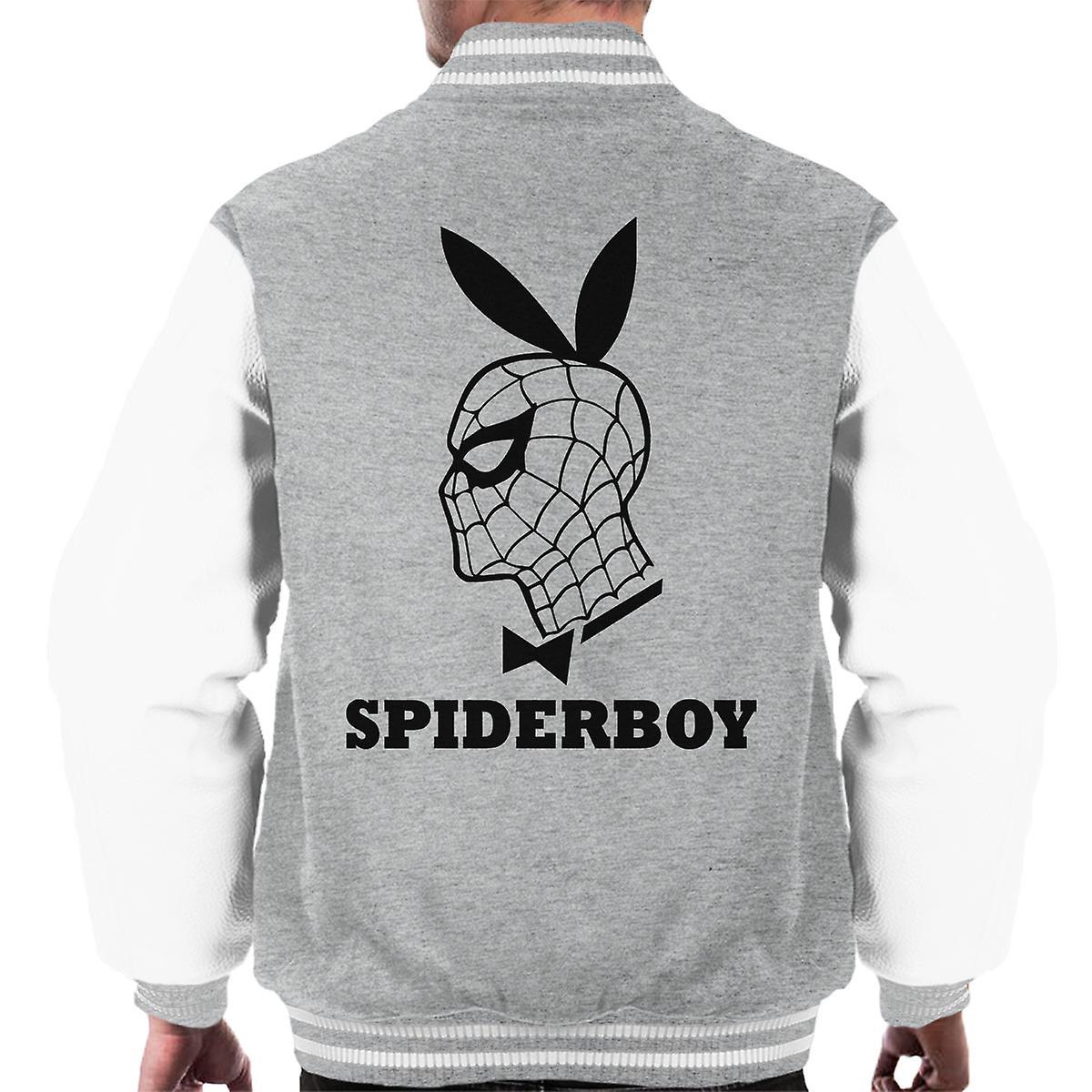 Spiderman Männer Homecoming Playboy Mashup Varsity Jacket Spiderboy c54SARj3Lq