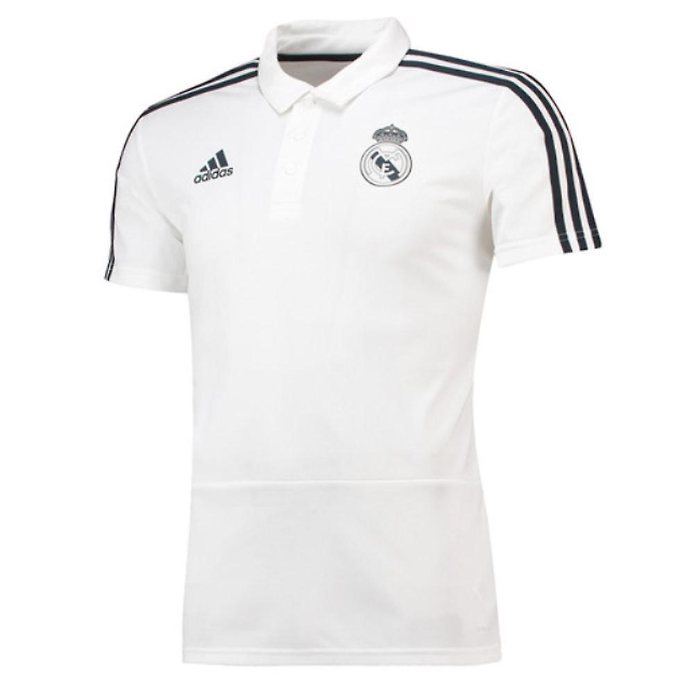 2018-2019 real Madrid Adidas Polo camisa (blanco)  ef06144d69947