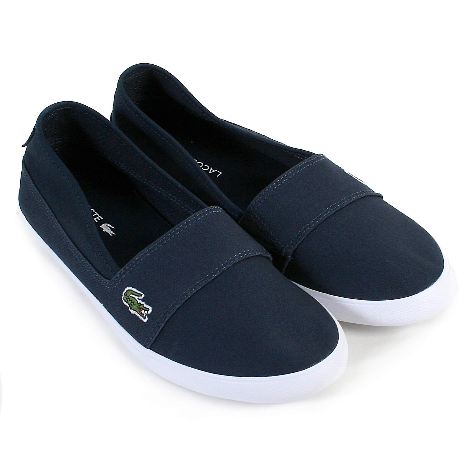 05347b4d8f2 Lacoste Women s Marice BL 2 Canvas Slip On Espadrille Navy