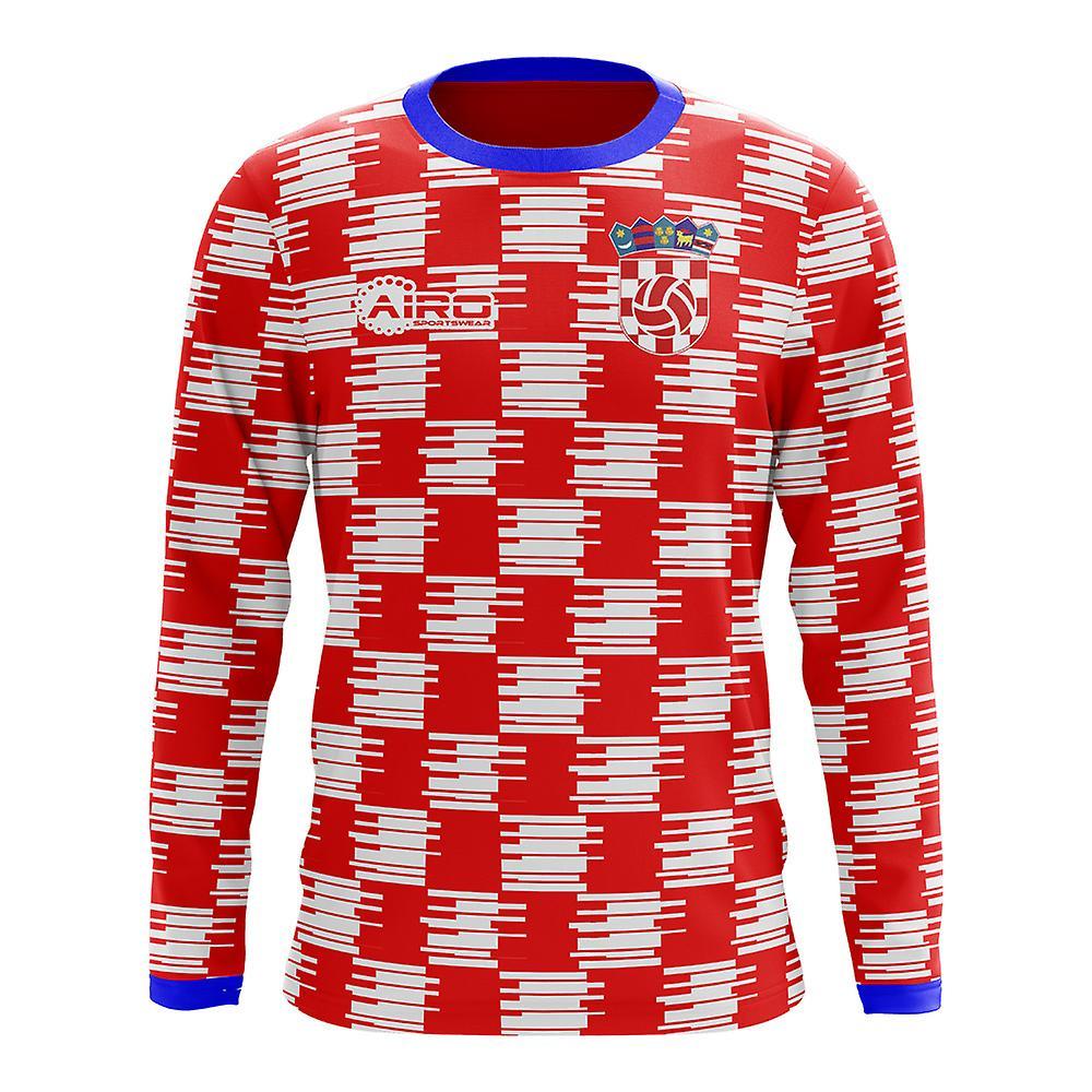 6975cd96456d1 2018-2019 Croacia concepto Home manga larga camiseta