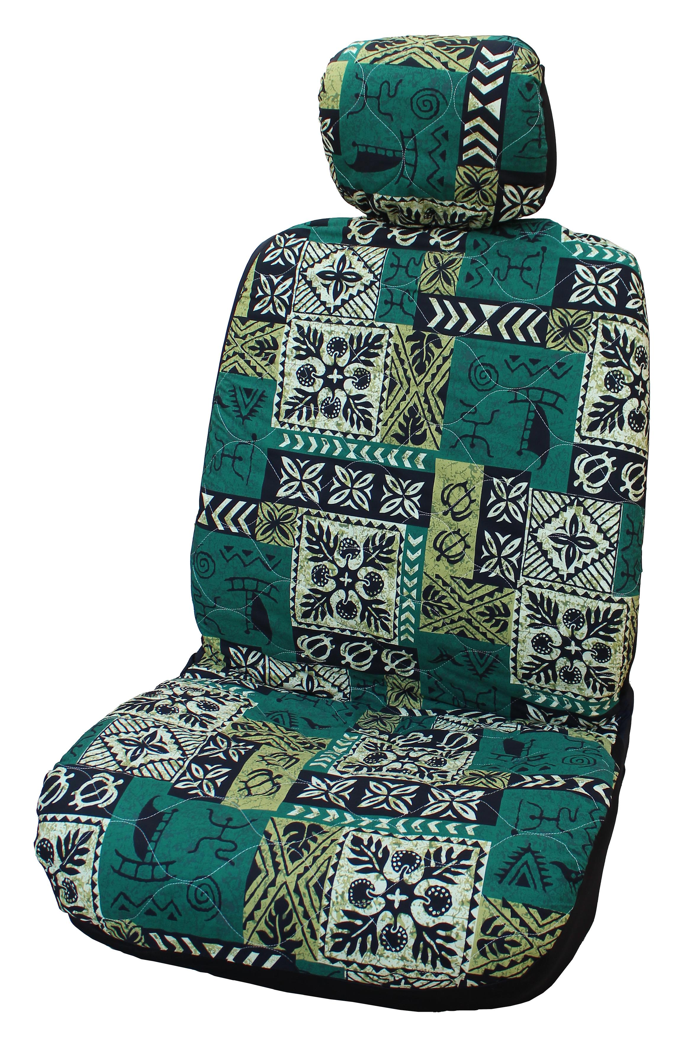 Hawaiian Car Seat Covers >> Side Airbag Optional Old Tapa Separate Headrests Hawaiian Car Seat Covers