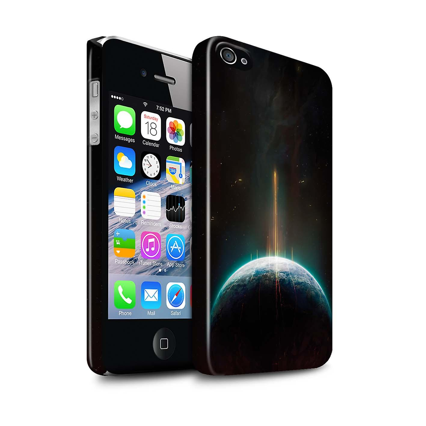Official Chris Cold Phone Case / Gloss Hard Back Snap-On Cover for Apple  iPhone 4/4S / Phoenix/Spacetime Design / Galactic World Collection