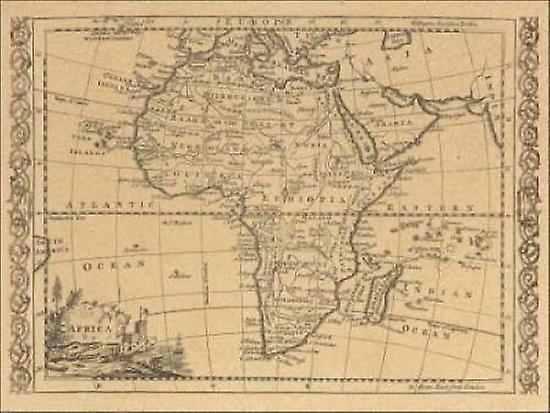Africa 1800 Poster Print by World Map