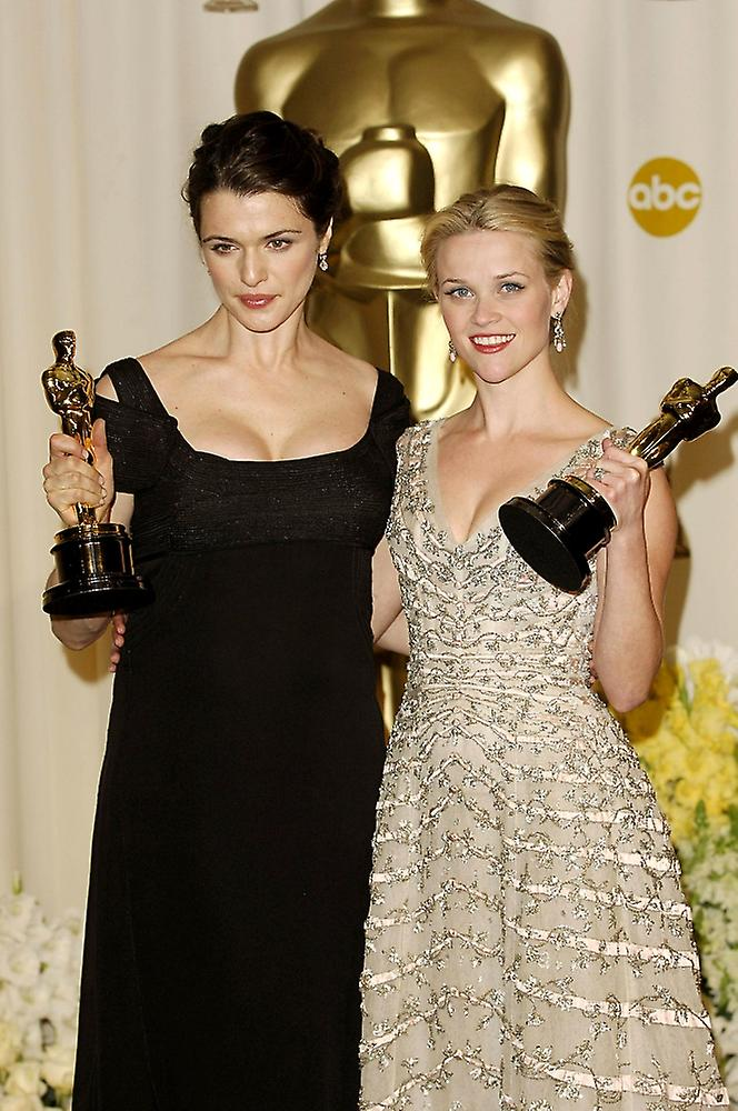 Rachel Weisz Reese Witherspoon In The Press Room For Oscars 78Th Annual Academy Awards Kodak