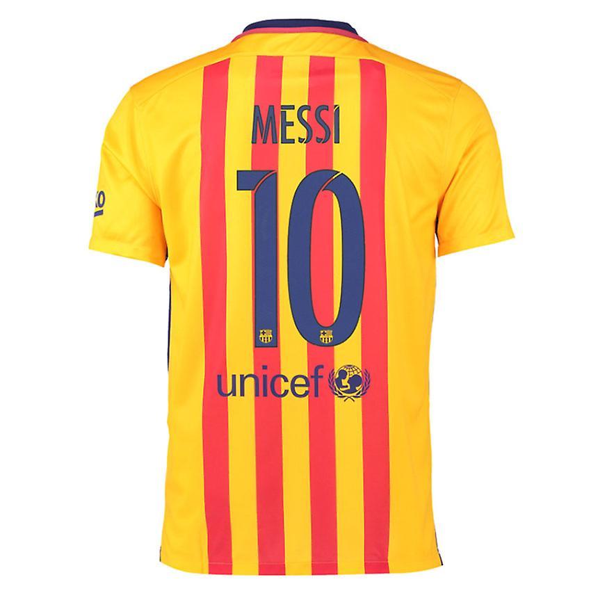 buy popular 8c0ba 9dc2d 2015-16 Barcelona Away Shirt (Messi 10)