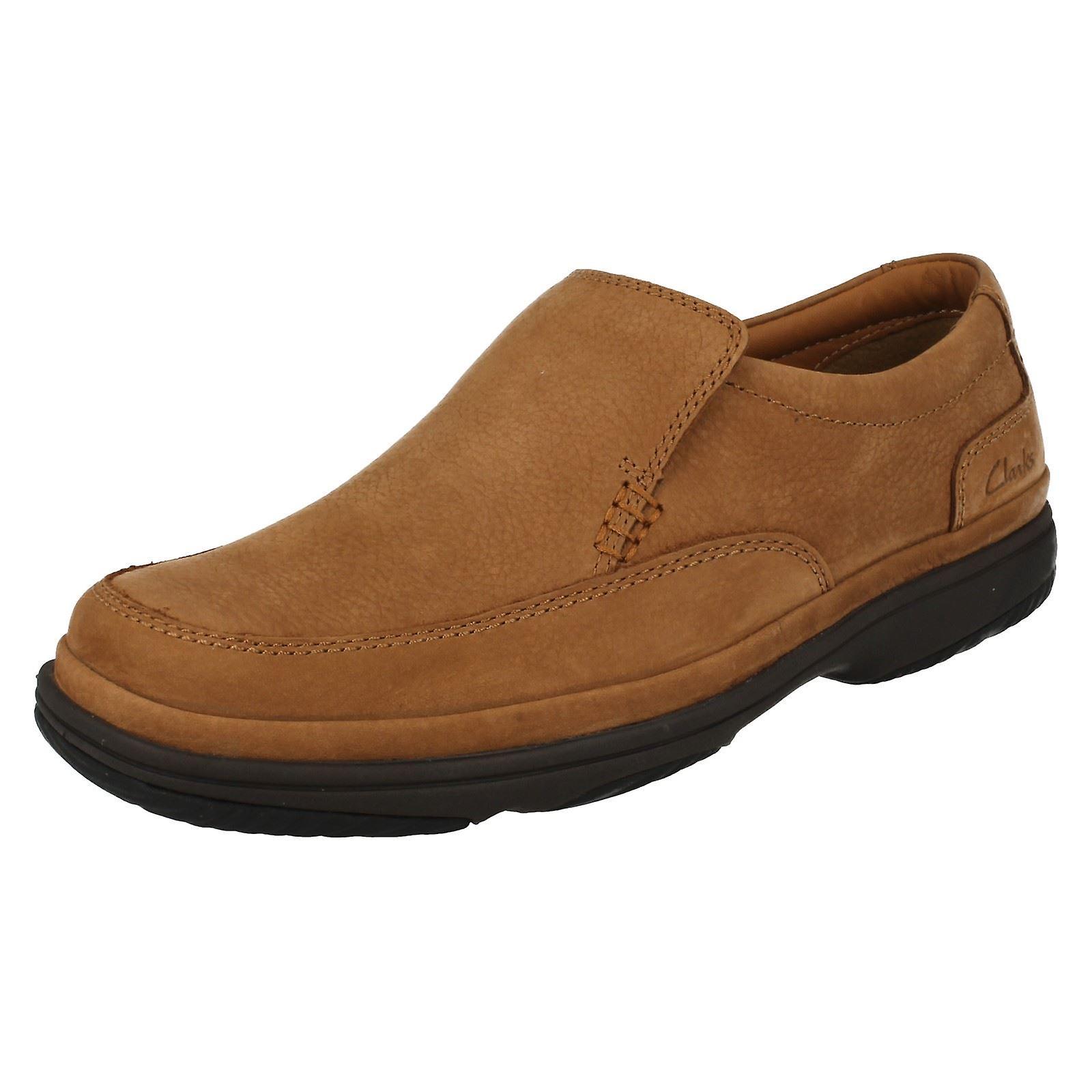 Herren Clarks Flexlight Wide Fitting Slip on Schuhe schnelle Schritt